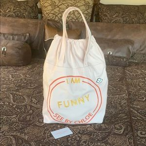 See By Chloe I Am Funny Drawstring Tote 👜